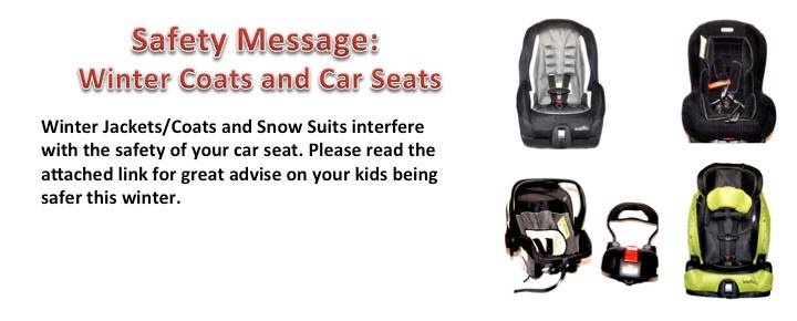 Car Seats And Winter Coat Safety Safety Notice Car Seats